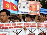 Les étudiants vietnamiens protestent contre la Chine