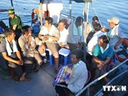 Les 10 pêcheurs du navire coulé par un navire chinois ramenés sur l'île de Ly Son