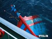 Da Nang: le bateau de pêche coulé par un navire chinois remis à flot