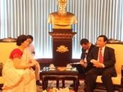 Renforcement des relations de partenariat stratégique Vietnam-Inde