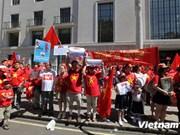 Les Vietnamiens au Royaume-Uni continuent de manifester contre la Chine