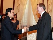 Truong Tan Sang reçoit l'ambassadeur norvégien