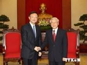 Le leader du PCV reçoit le conseiller d'Etat chinois Yang Jiechi