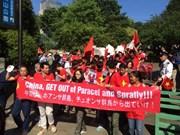 Les Vietnamiens en Japon et en Russie protestent contre la Chine
