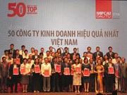 Publication de la liste des 50 entreprises les plus rentables du Vietnam