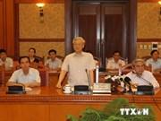 Nguyen Phu Trong travaille avec le Conseil de théorie du PCV