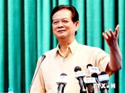 Le PM Nguyen Tan Dung rencontre des électeurs de Hai Phong