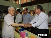 À Ninh Thuân, le chef du Parti montre la voie