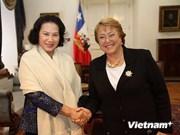 La vice-présidente de l'AN se rend au Chili