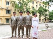 Biologie : le Vietnam médaillé aux Olympiades internationales