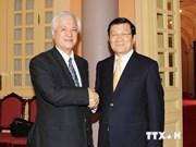 Le président Truong Tan Sang reçoit le gouverneur de la JBIC