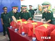 Long An: inhumation des restes de soldats tombés au Cambodge