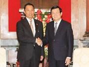 Truong Tan Sang reçoit le président du Parlement national du Myanmar