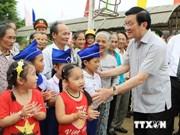 Le président Truong Tân Sang en visite à Quang Tri