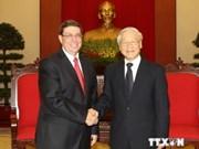 Entretien entre les chefs de la diplomatie Vietnam-Cuba