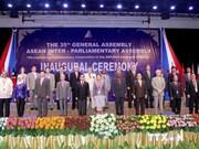 Ouverture de la 35e Assemblée générale de l'Assemblée interparlementaire de l'ASEAN