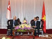 Des responsables d'Ho Chi Minh-Ville rencontrent M. Goh Chok Tong
