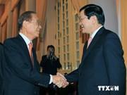 Un ancien secrétaire d'Etat japonais reçu par le chef de l'Etat vietnamien