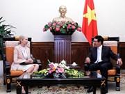 Pham Binh Minh reçoit l'ambassadeur de Norvège au Vietnam