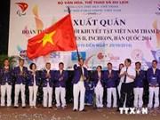 Asian ParaGames : cérémonie de départ de la délégation handisport vietnamienne