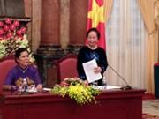 La vice-présidente loue le rôle des dignitaires religieuses