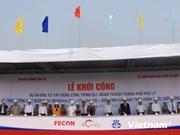 Nationale 1 : mise en chantier de la déviation de la ville de Phu Ly