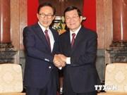 Le chef de l'Etat reçoit l'ex-président sud-coréen Lee Myung-bak