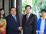 Le maire de Vientiane reçu par des dirigeants vietnamiens