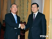 Truong Tan Sang reçoit une délégation de la Chambre de commerce et d'industrie du Japon