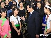 Le président rencontre des élèves brillants issus de minorités ethniques