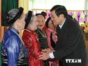 Le président assiste à la fête de grande union nationale à Ha Nam
