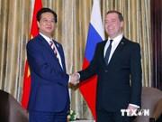 Le PM rencontre ses homologues russe et australien