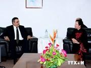 La vice-président Nguyen Thi Doan reçoit des dirigeants de pays francophones