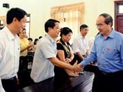 Le président du FPV rencontre l'électorat à Bac Giang
