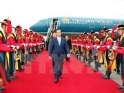 Le Premier ministre arrive à Pusan