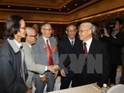 Rencontre d'anciens prisonniers membres de comités du Parti