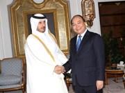 Le vice-PM Nguyên Xuân Phuc au Qatar