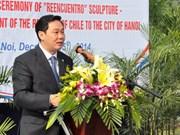 Inauguration à Hanoi d'une statue témoignant de l'amitié Vietnam-Chili