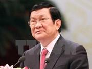 Le président Truong Tan Sang part pour une visite d'Etat au Cambodge