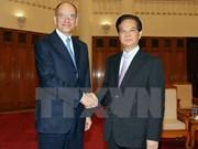 Le chef du gouvernement reçoit l'ex-PM italien Enrico Letta