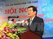 Le chef de l'Etat à une conférence de la Cour populaire suprême