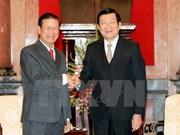 Le président du Vietnam reçoit une délégation laotienne