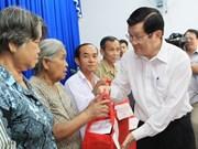 Truong Tan Sang en visite de travail dans la province d'An Giang