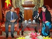 La vice-présidente de l'AN Tong Thi Phong reçoit des cadres juridiques laotiens