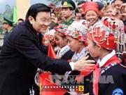 Le président formule ses voeux du Têt traditionnel à Lao Cai
