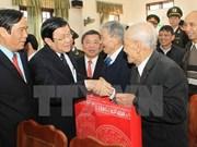 Têt : le chef de l'Etat formule ses voeux à Duc Tho (Ha Tinh)