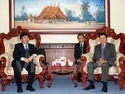Une délégation du Comité des frontières du Vietnam en mission au Laos