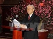 Nguyen Phu Trong rencontre d'anciens dirigeants du Vietnam
