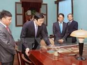Le Président Truong Tân Sang rend hommage au Président Hô Chi Minh