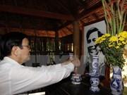 Le chef de l'Etat se rend à Tay Ninh et Binh Duong
